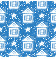 blue christmas seamless pattern vector image