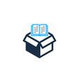 book box logo icon design vector image