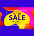 bright abstract banner sales with coloured blue vector image vector image