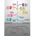 Business tree info graphics vector image vector image