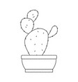 cactus in pot draw vector image vector image