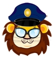 Cartoon lion bespectacled vector image