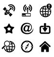 computer web icons vector image vector image