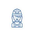 construction master line icon concept vector image vector image