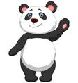 Cute panda cartoon waving vector image vector image