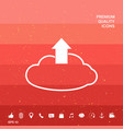 download from the cloud vector image