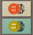 Elegant baroque badges Design elements vector image
