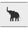 elephant icon black color on transparent vector image vector image