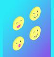 Emoji emoticons face expressions set icons