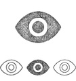 Eye icon set - sketch line art vector image vector image