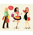 fashion shopping girls vector image vector image