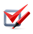 Felt-tip pen and tick mark icon