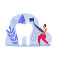 flat dental health icon vector image vector image