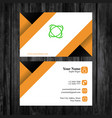 free business card template vector image vector image