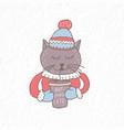 funny cat nursery art minimalist scandinavian vector image vector image