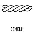 gemelli icon outline style vector image