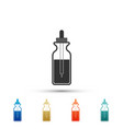 glass bottle with a pipette vector image