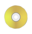 Gold Compact Disc Icon vector image vector image