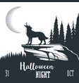 halloween night concept 02 vector image vector image