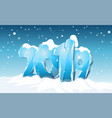 happy new year 2019 snowy background vector image