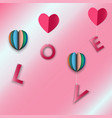 happy valentine day of background vector image