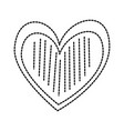 heart love romance decoration image linear dots vector image