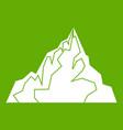 iceberg icon green vector image vector image