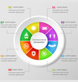 infographic design template with coronavirus icons vector image