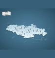 isometric 3d serbia map concept vector image vector image