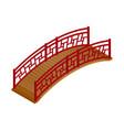 isometric asian bridge vector image