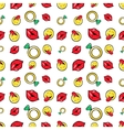 Lips Diamonds and Emoticons Seamless Pattern vector image vector image