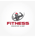 man and woman of fitness silhouette character with vector image vector image
