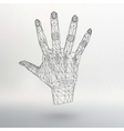 Mesh polygonal background hand of lines The vector image