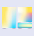 minimal covers design colorful gradients future vector image vector image