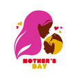 mother silhouette with bacard happy mothers vector image vector image