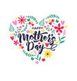 mothers day card of cute spring flower doodles vector image