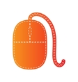 Mouse sign Orange applique isolated vector image vector image