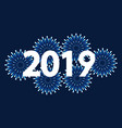 new 2019 year card with firework vector image