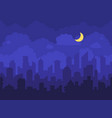 night cityscape cartoon city at vector image vector image