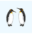 penguin family family of birds emperor penguin vector image