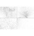 set grunge texture vector image vector image