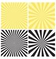 set radial sunburst backgrounds vector image vector image