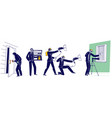 set special agents characters spying spraying vector image vector image