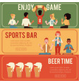 set sports and beer bar vector image