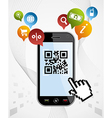 Smart Phone QR code application vector image