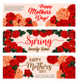 spring holiday flower banner of mother day design vector image