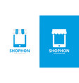 Store and phone logo combination market