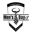 suit tie men day icon simple style vector image