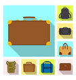 suitcase and baggage sign vector image