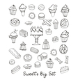 Sweets big set vector image